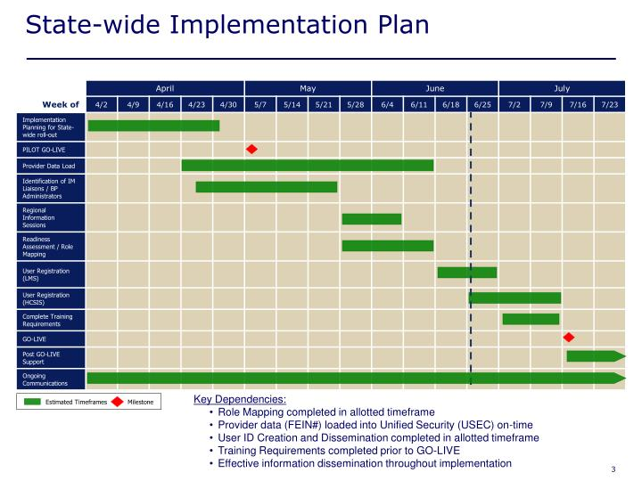 State wide implementation plan
