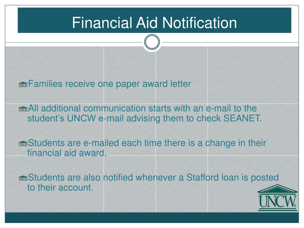 Financial Aid Notification