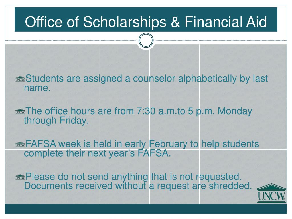 Office of Scholarships & Financial Aid