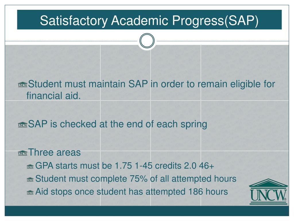 Satisfactory Academic Progress(SAP)