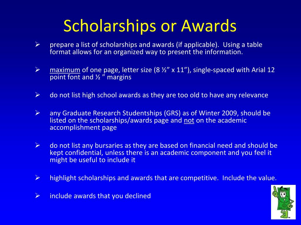 Scholarships or Awards