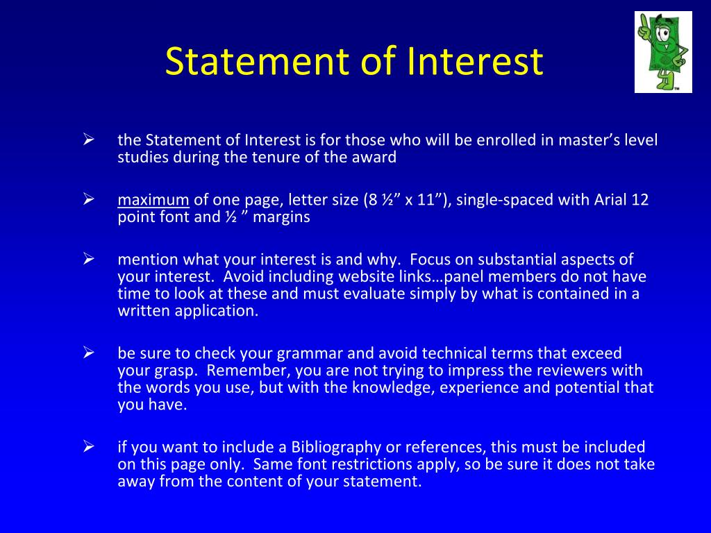 Statement of Interest