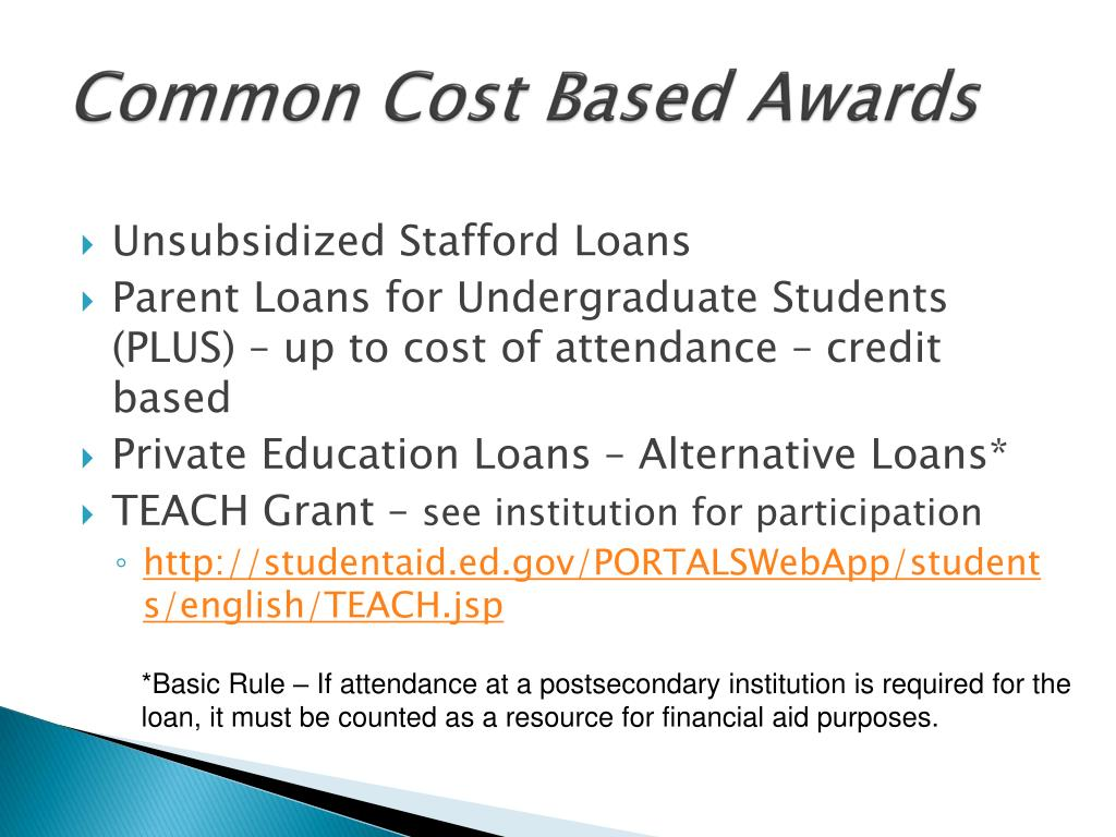 Common Cost Based Awards