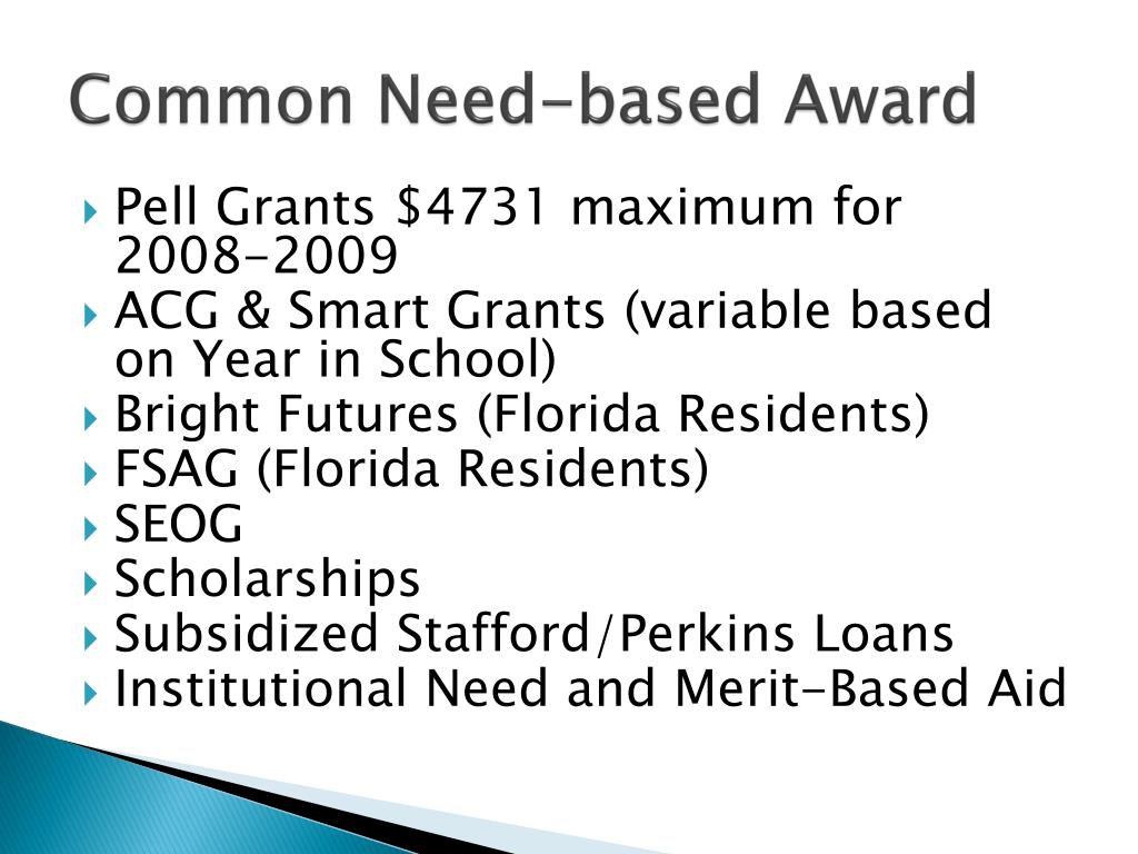 Common Need-based Award