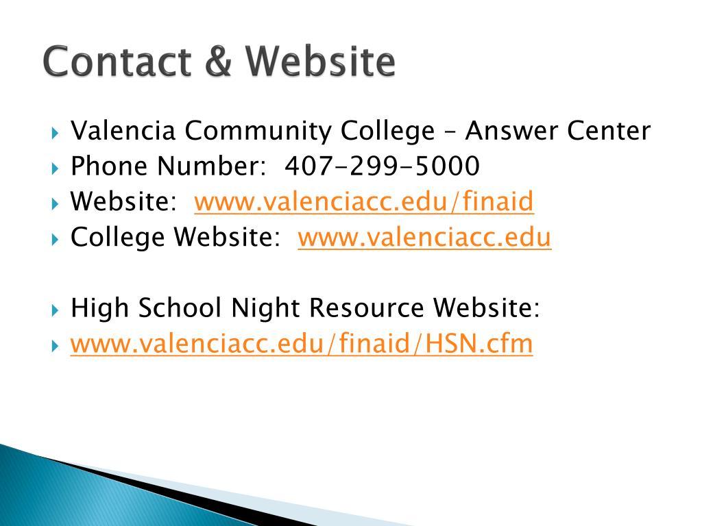 Contact & Website