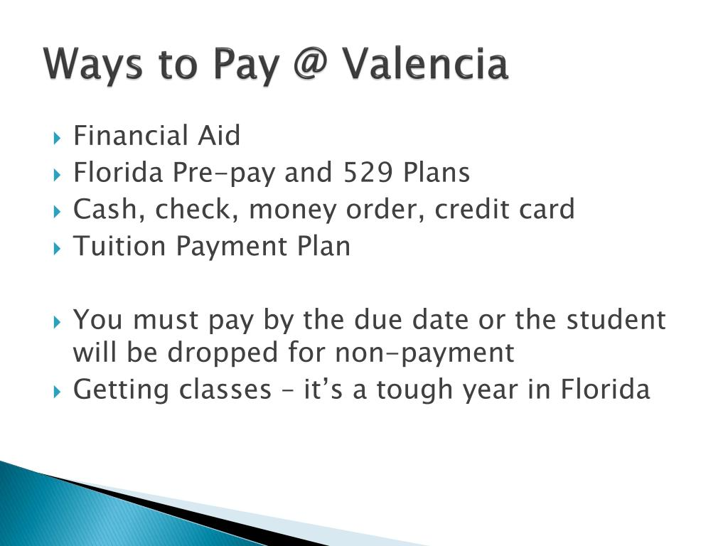 Ways to Pay @ Valencia