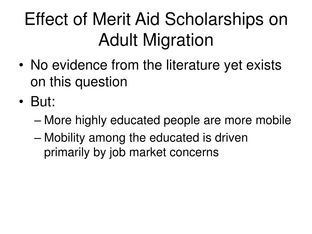 Effect of Merit Aid Scholarships on Adult Migration