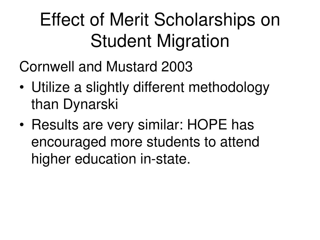 Effect of Merit Scholarships on Student Migration