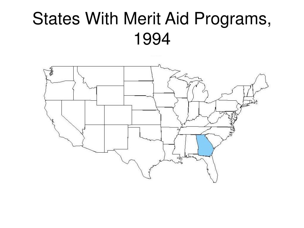 States With Merit Aid Programs, 1994