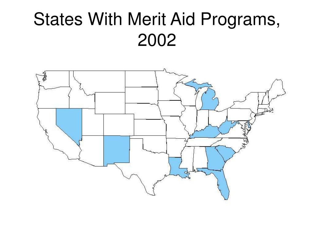 States With Merit Aid Programs, 2002