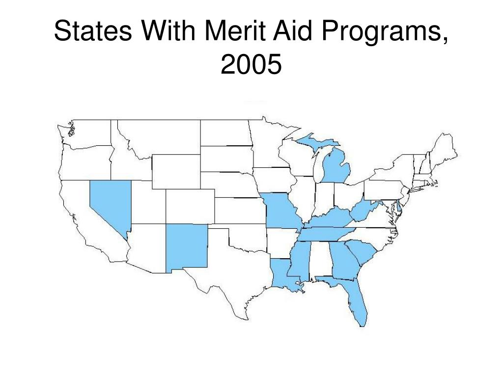 States With Merit Aid Programs, 2005