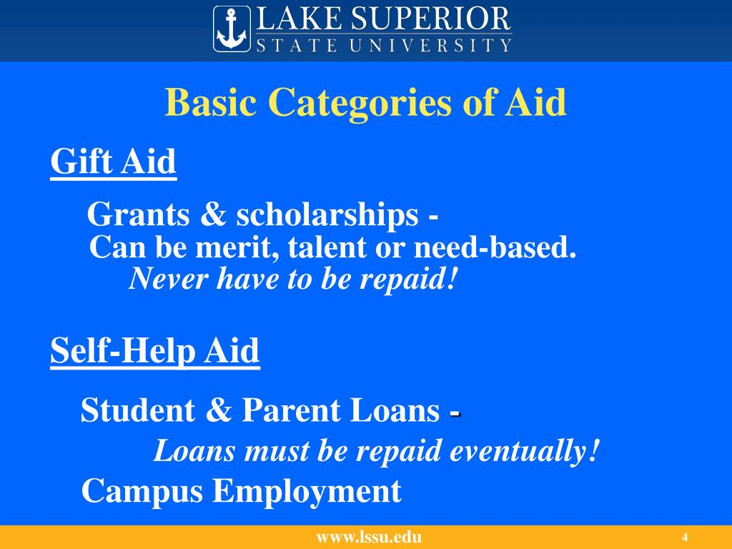 Basic Categories of Aid