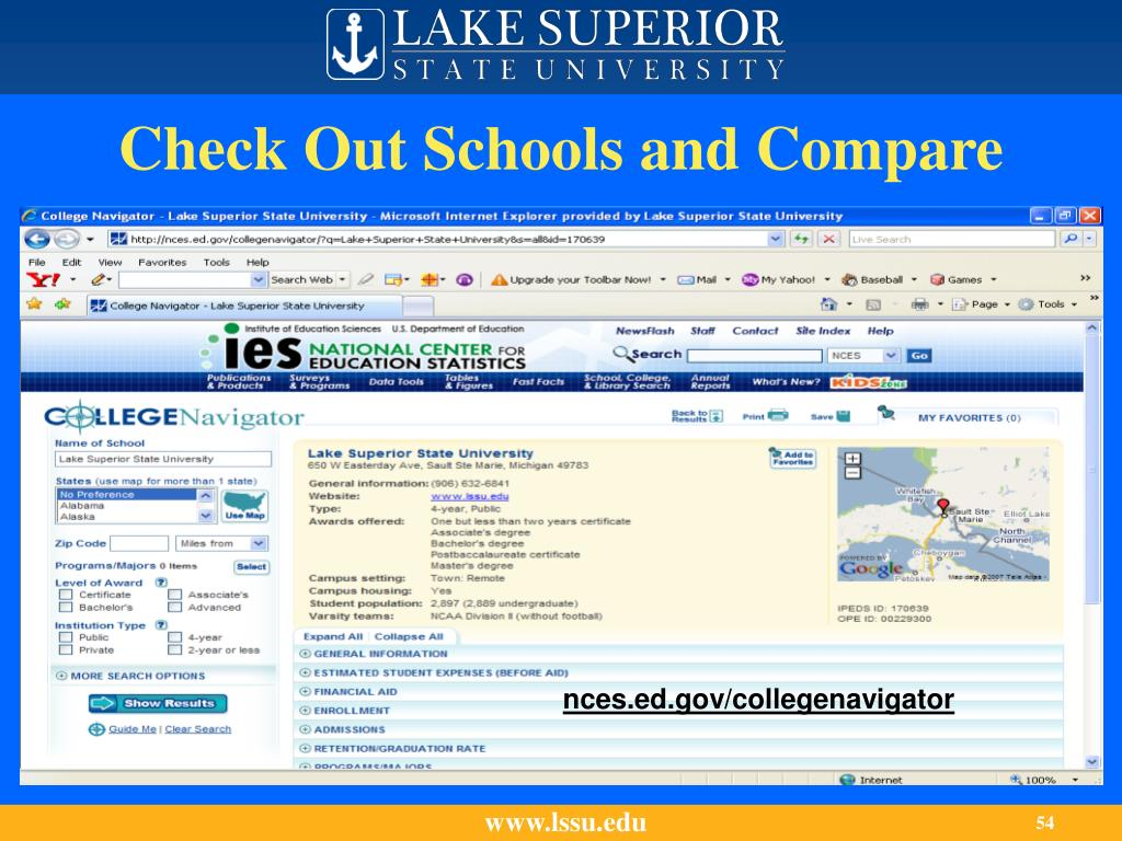 Check Out Schools and Compare