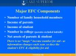 major efc components