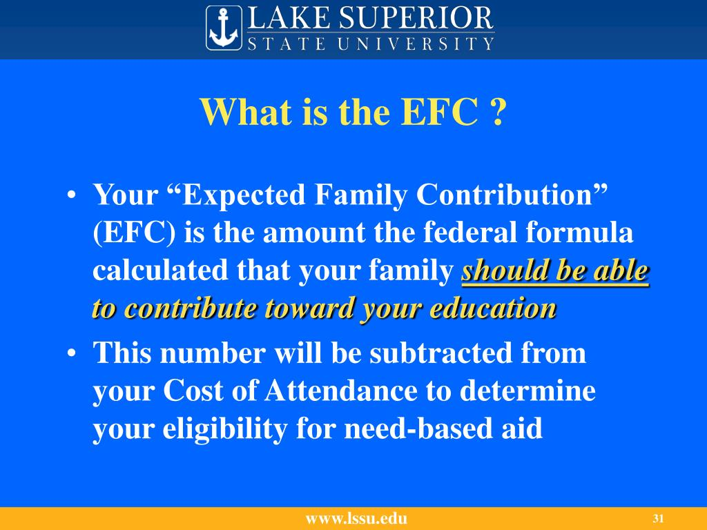 What is the EFC ?