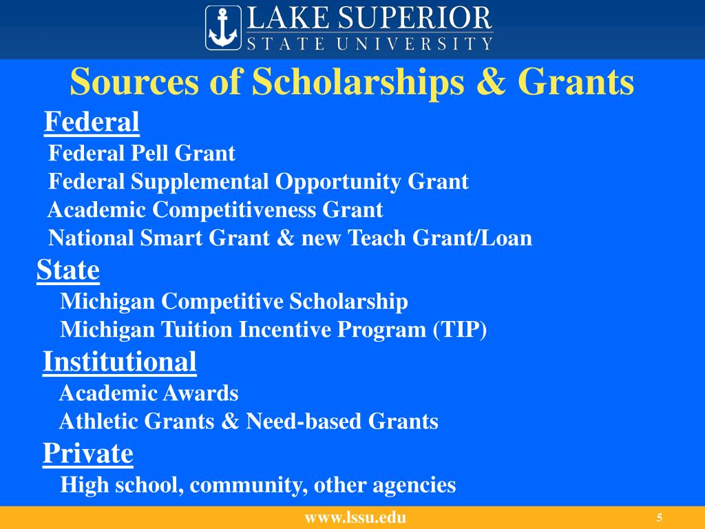 Sources of Scholarships & Grants