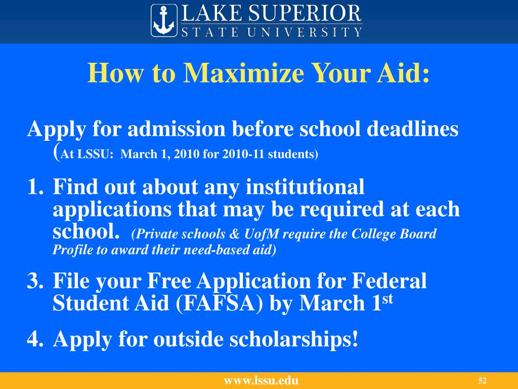 How to Maximize Your Aid: