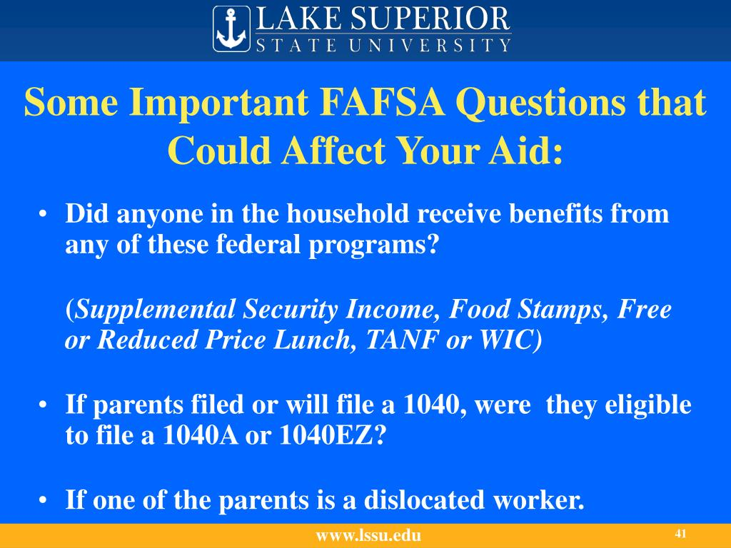 Some Important FAFSA Questions that Could Affect Your Aid: