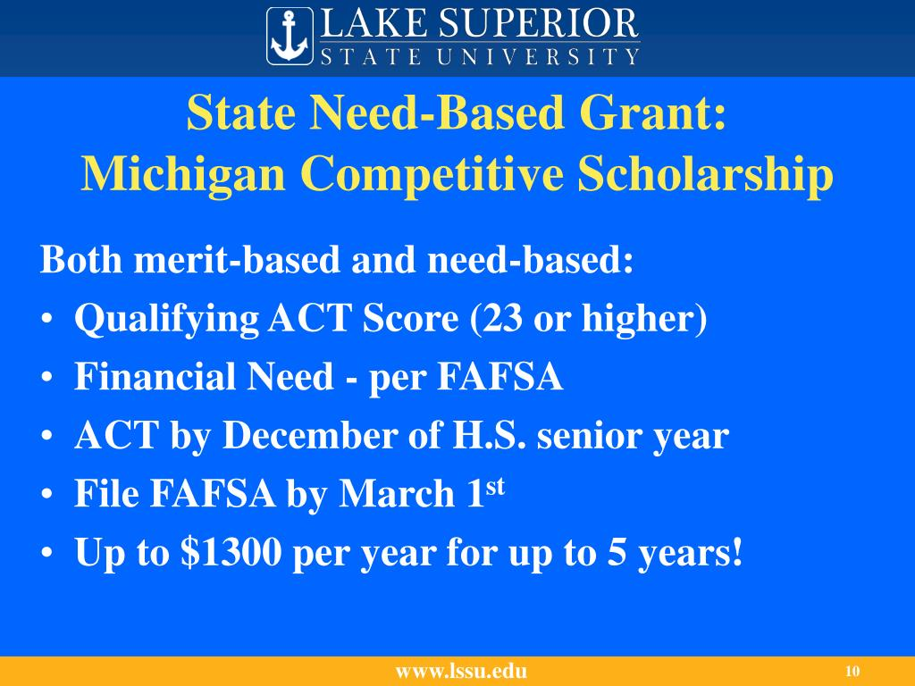 State Need-Based Grant: