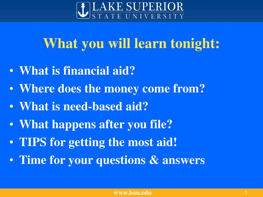 What you will learn tonight: