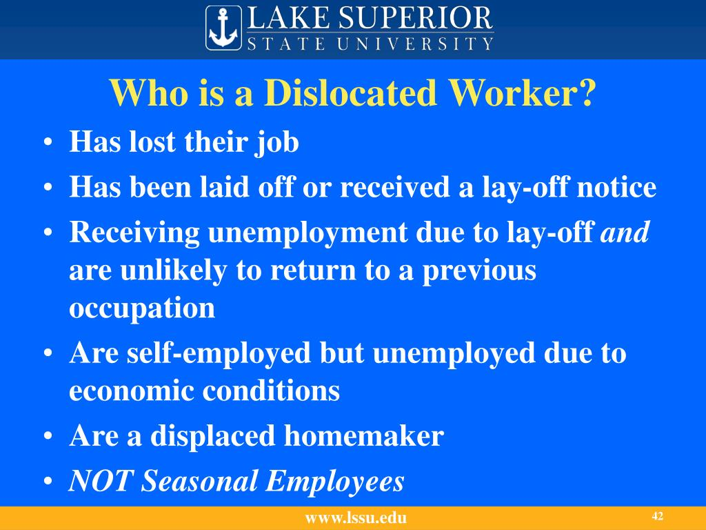 Who is a Dislocated Worker?