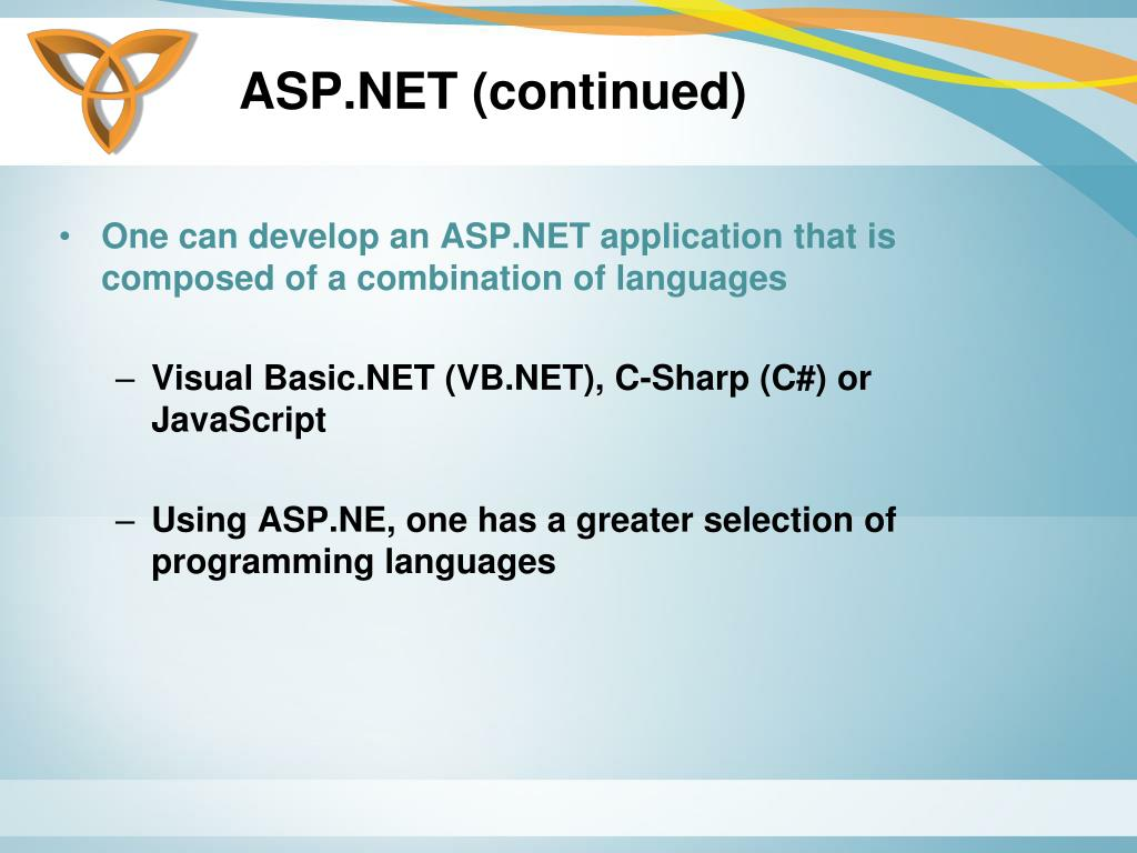 ASP.NET (continued)