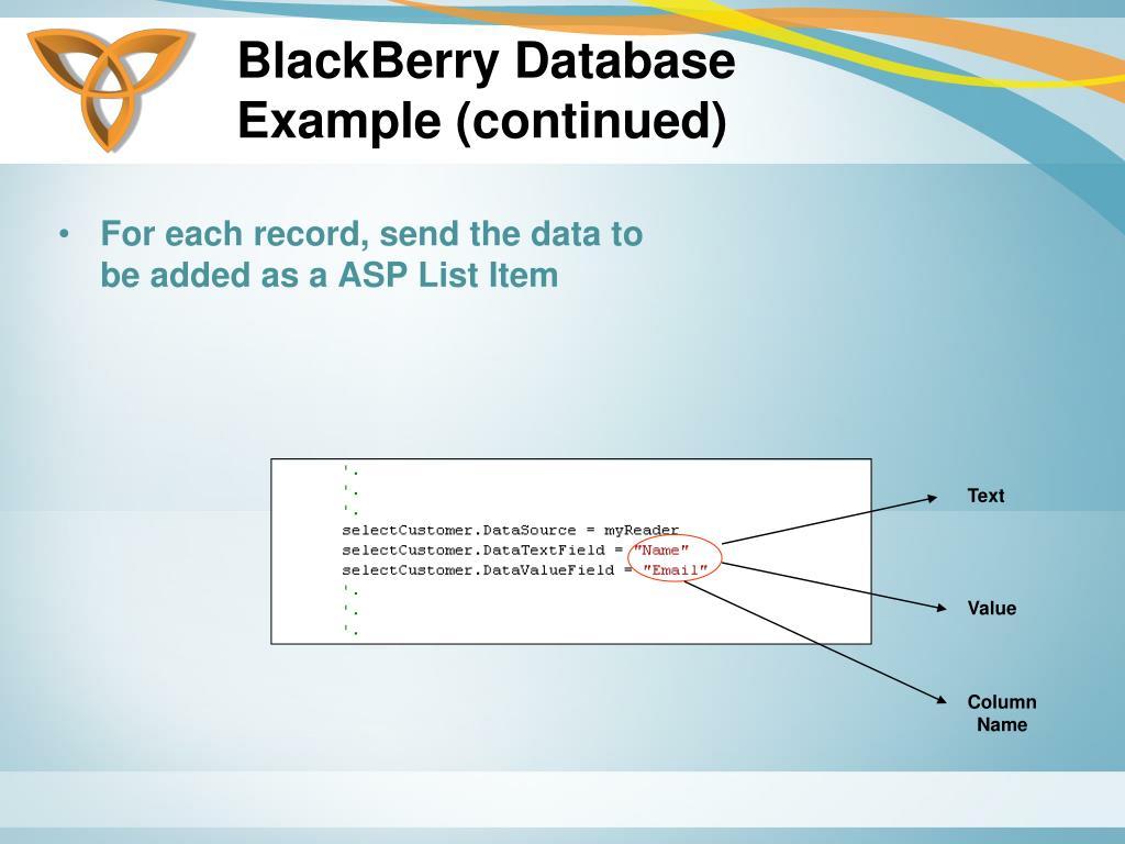 BlackBerry Database