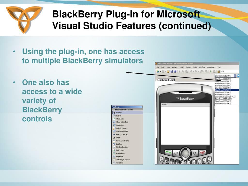 BlackBerry Plug-in for Microsoft