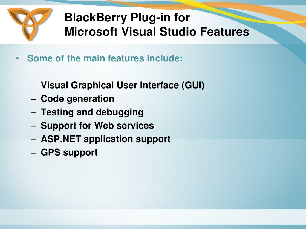 BlackBerry Plug-in for