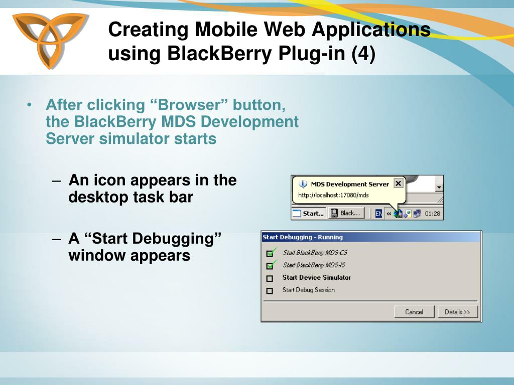 Creating Mobile Web Applications using BlackBerry Plug-in (4)