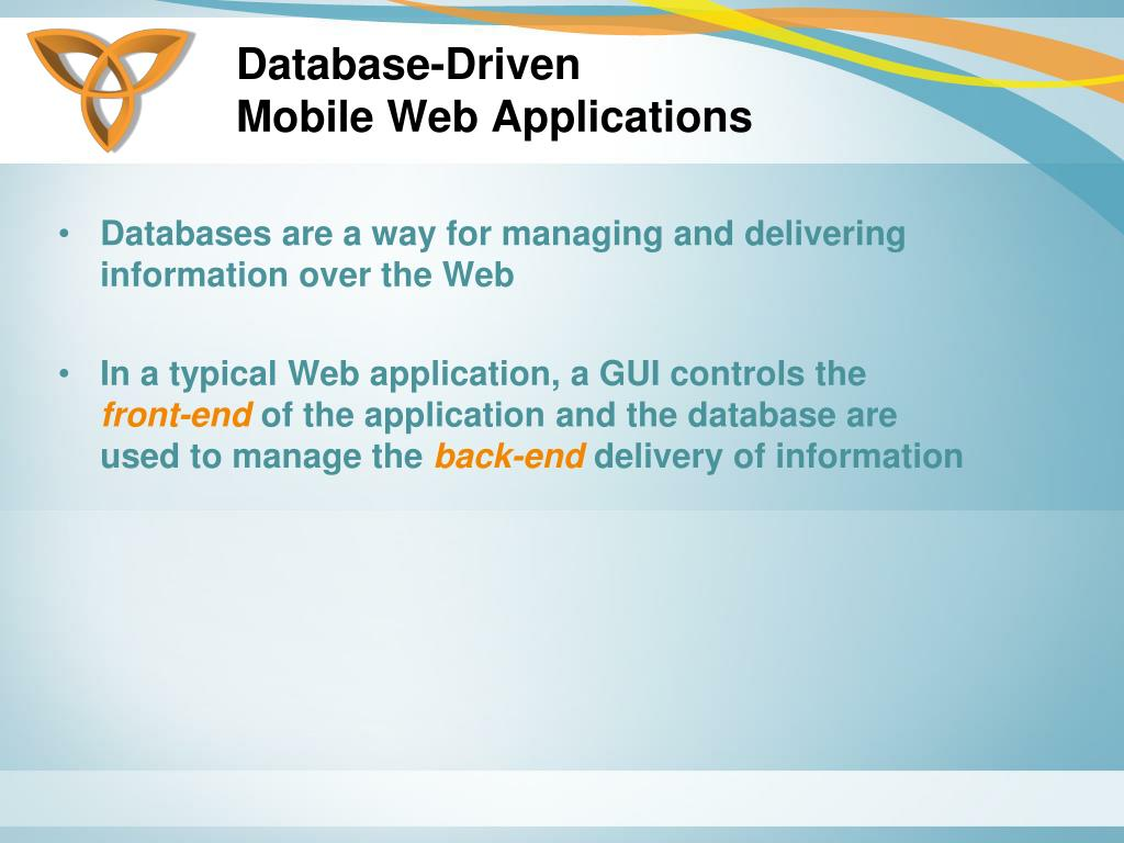 Database-Driven