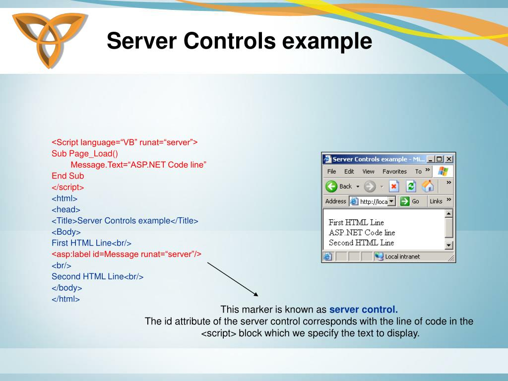 Server Controls example