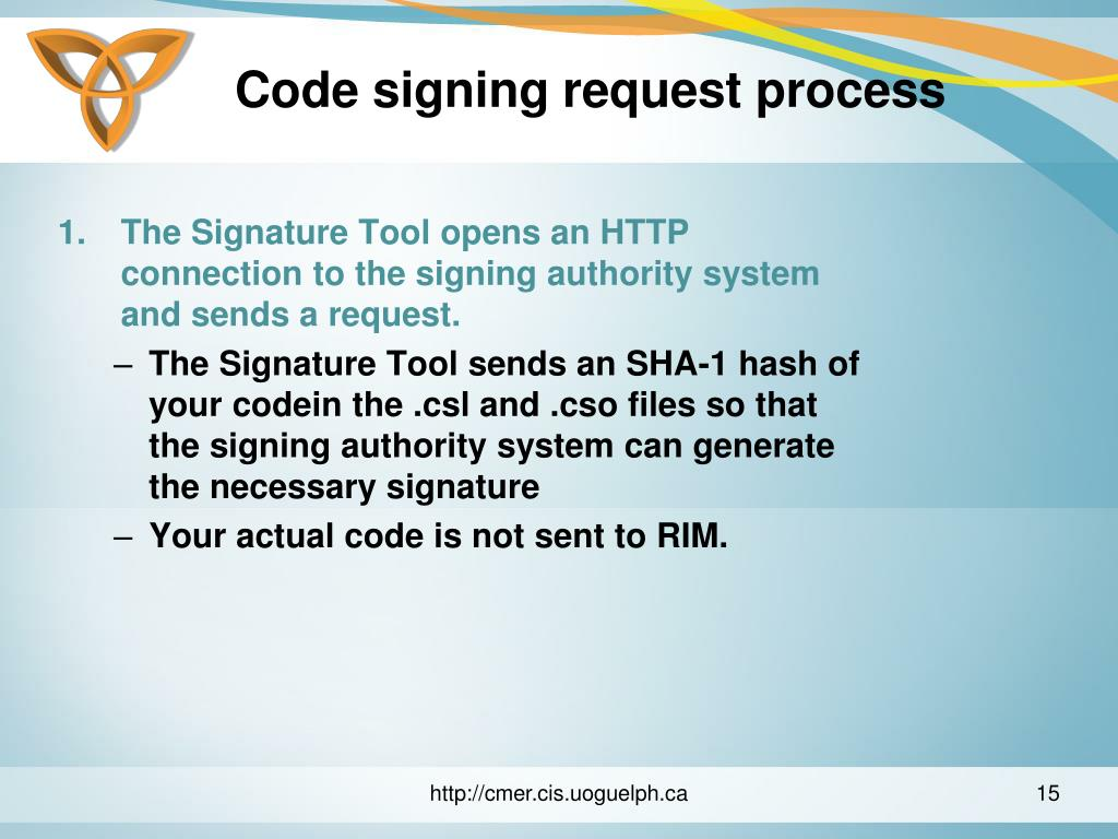 Code signing request process