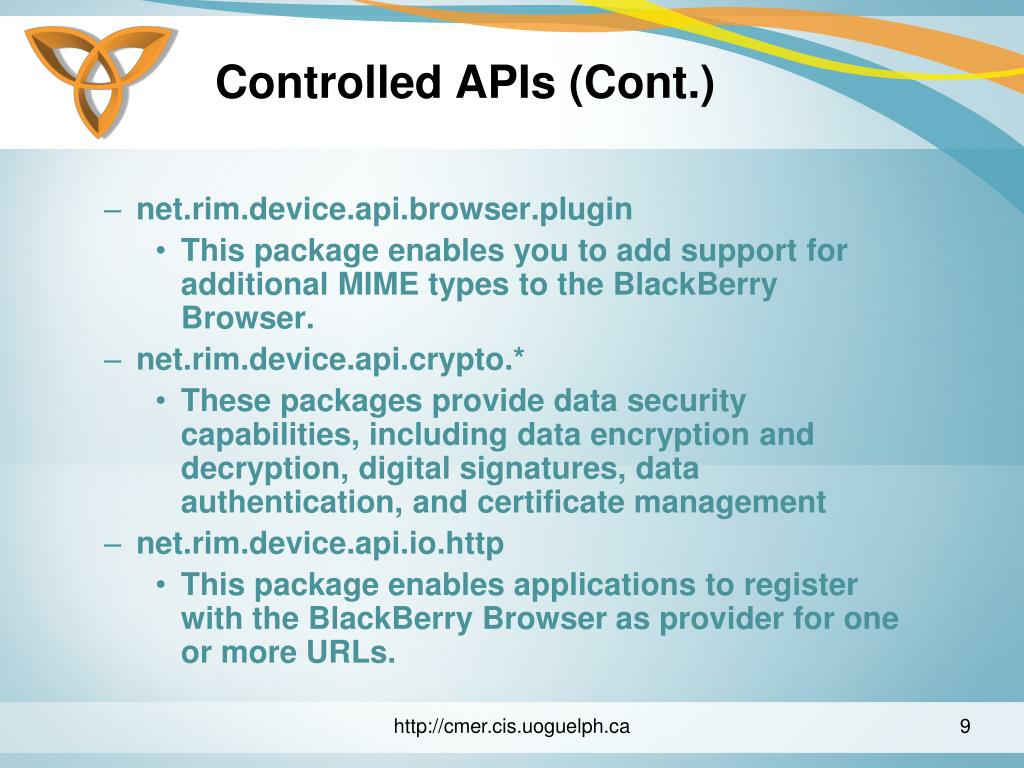 Controlled APIs (Cont.)