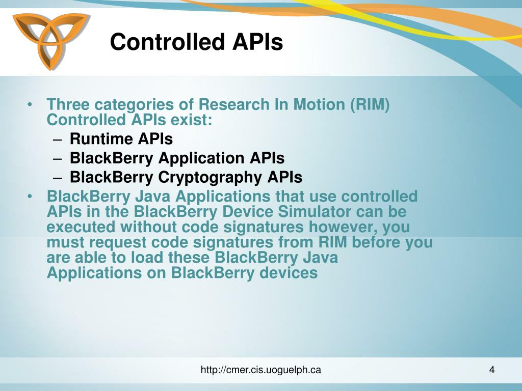 Controlled APIs