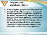 request code signatures cont21