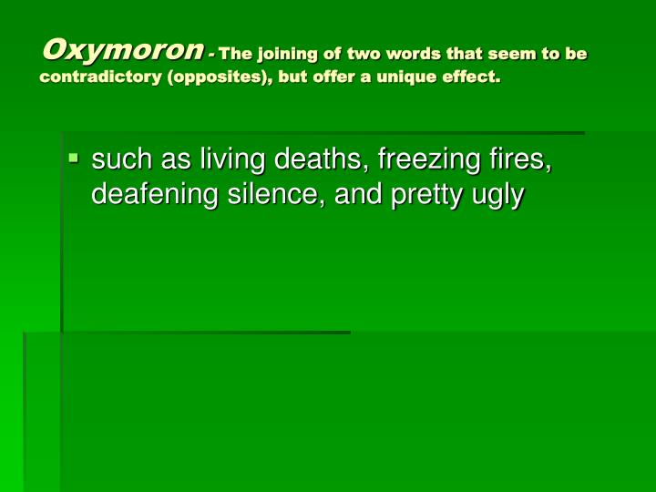 Oxymoron