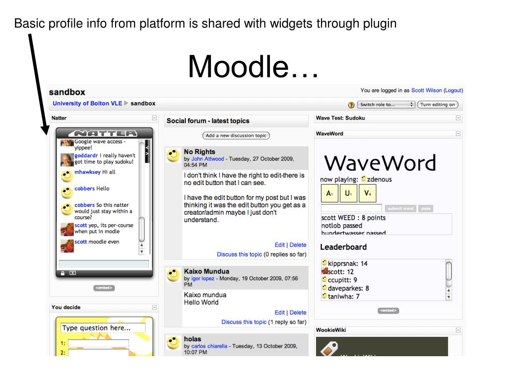 Basic profile info from platform is shared with widgets through plugin