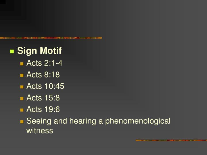 Sign Motif