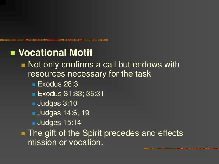 Vocational Motif