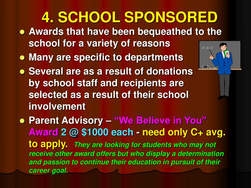 4. SCHOOL SPONSORED