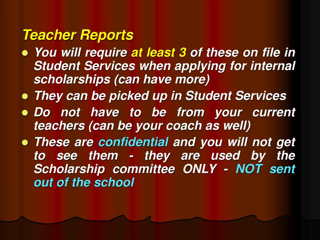Teacher Reports