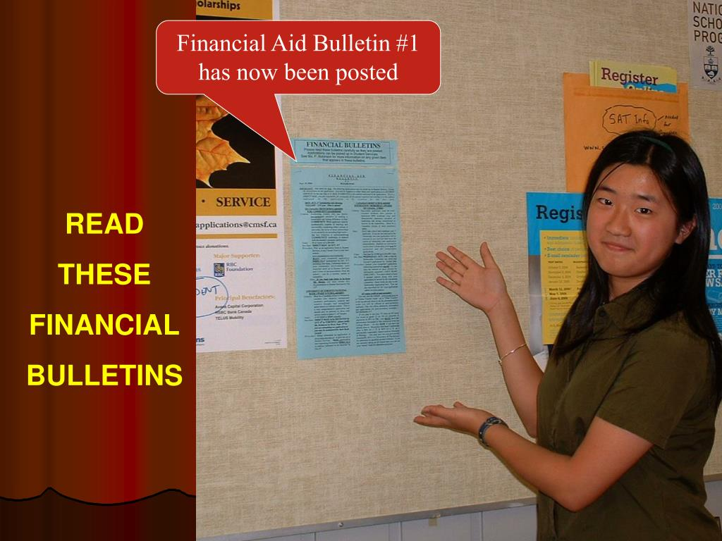 Financial Aid Bulletin #1 has now been posted