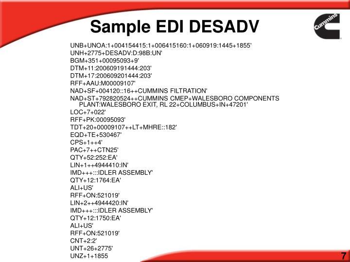Sample EDI DESADV