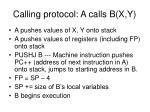 calling protocol a calls b x y