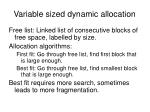 variable sized dynamic allocation