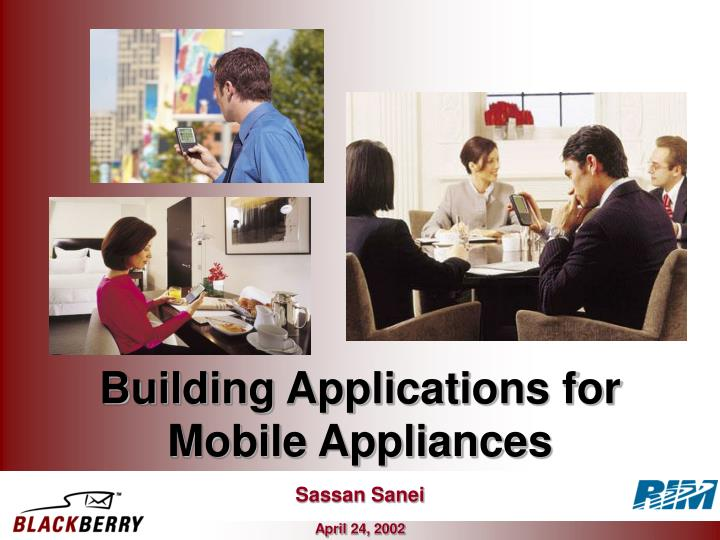 Building applications for mobile appliances