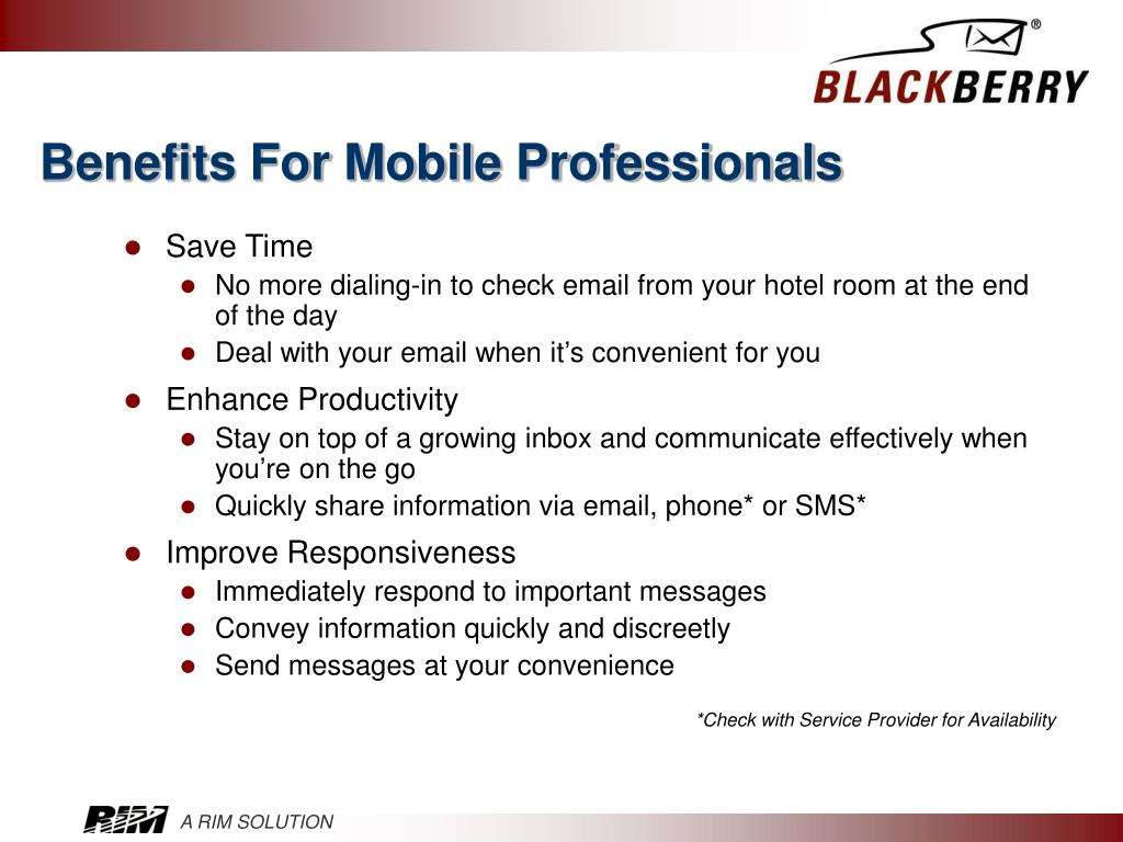 Benefits For Mobile Professionals