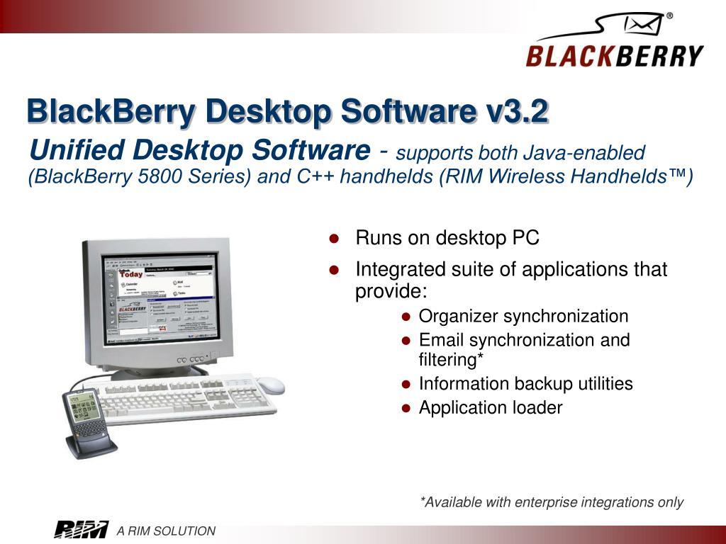 BlackBerry Desktop Software v3.2