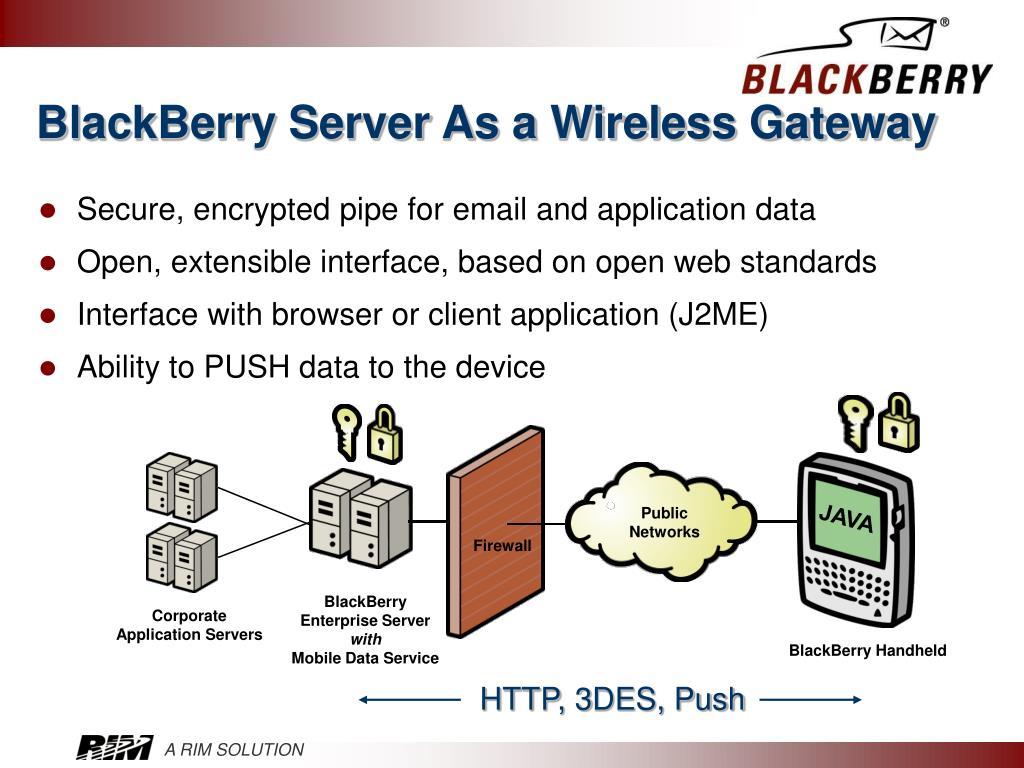 BlackBerry Server As a Wireless Gateway
